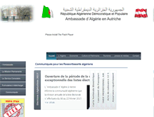 Tablet Preview of algerian-embassy.at
